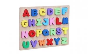 Puzzle 3D lemn Alfabetul cu litere mari, Pregatiri de scoala