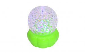 Glob disco cu joc de lumini, led, verde