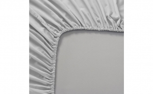 Cearceaf de pat cu elastic, culoare gri 180 x 200 cm, Bumbac