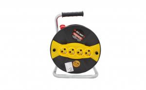 Prelungitor Electric Cu Tambur, 4 Prize, Lungime 30m, 3x2.5mm