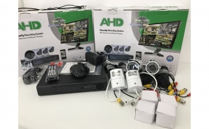 Sistem supraveghere AHD Full 4 camere 3 MP Kit Complet Internet 5G Led IR AHD HDMI