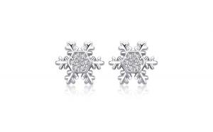 Cercei din argint 925 Winter Snowflake
