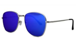 Ochelari de soare Aviator Oglinda Albastru cu reflexii - Argintiu