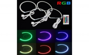 Kit Angel Eyes LED SMD BMW E38 RGB cu 16 culori cu telecomanda