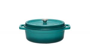 Semioala ovala fonta emailata Cooking by