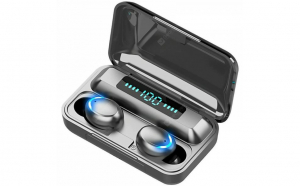 Casti wireless bluetooth 5.1, powerbank