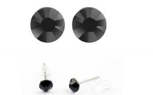 Cercei LITTLE SHINE black cu cristale