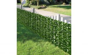 2 x Gard artificial cu frunze verzi, 100 x 300 cm