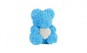 Ursulet  Rose Bear 40 cm albastru cu alb