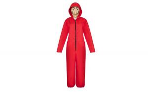 Costum pentru copii, La Casa de Papel, marimea S, 100-110 cm, rosu