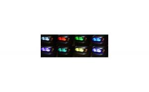 Angel Eyes RGB LED 16 culori cu telecomanda Bmw Seria 3 E46 Coupe far cu lupa cu xenon 2000-2003
