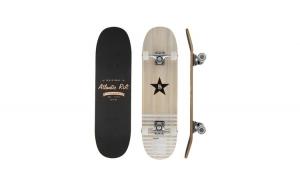 Skateboard ABEC-9 Amortizare PU Negru/Portocaliu 80 x 21 cm