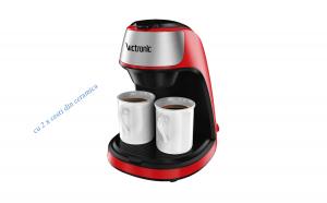 Filtru cafea cu doua cesti din ceramica, 2x125ml, 450W, Victronic VC3616