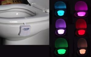Lampa LED multicolora pentru toaleta, sensor de miscare si lumina, la 49 RON in loc de 99 RON! Garantie 12 luni!