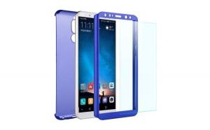 Husa Huawei Mate 10 Lite Flippy Full Cover 360 Albastru + Folie de protectie