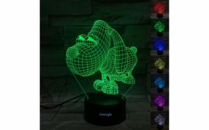 Lampa 3D LED, Catelus, 7 culori, USB