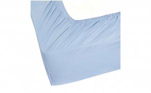 Cearceaf de pat cu elastic, culoare bleu 180 x 200 cm , Bumbac