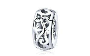 Talisman argint cu frunze