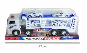 Camion cu 4 masini de politie