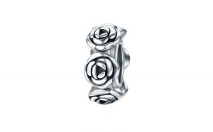 Talisman argint cu trandafiri