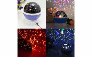 Lampa de veghe, Star Master, cu proiector stele rotativ 360.