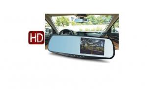 Camera HD DVR auto in oglinda retrovizoare, cu microfon si difuzor incorporate