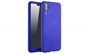 Husa Huawei P Smart Flippy Full Cover 360 Albastru + Folie de protectie