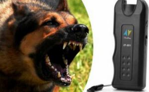 Aparat cu ultrasunete pentru alungat cainii cu un difuzor