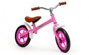 Bicicleta fara pedale Ecotoys, Roz, 88x52x44 cm