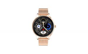 Ceas Smartwatch TND Wear Trend, Oxygen Monitor, Ritm Cardiac, IP67, gold