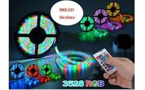 Banda RGB led cu telecomanda si joc de lumini multicolore la doar 69 RON in loc de 159 RON