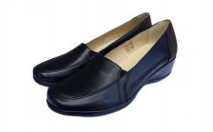 Pantofi dama comozi, cu talpa Epa, din piele naturala 100%, prevazuti cu elastic, ideali  pentru persoanele care au picioare late