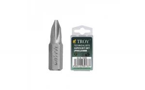 Set de biti Troy T22200, PH0, 25 mm, 24