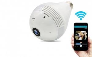 Camera supraveghere panoramica IP wireless, Fisheye 960P cu card audio si alarma