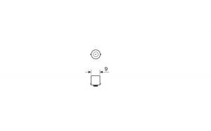 Bec 12V - T4W - 4W Pozitie soclu metal