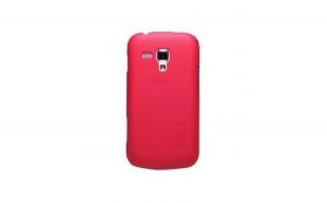 Husa Samsung Galaxy S Duos Nillkin Frosted Shiled Rosu + Folie de protectie