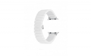 Curea compatibila Apple Watch, 42/44mm, ceramica, alb