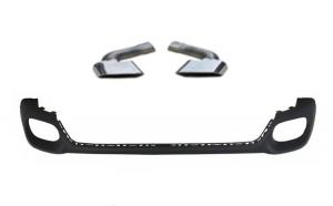 Kit tuning difuzor bara spate si ornamente toba compatibil BMW X6 F16 2014->