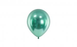 Set 9 baloane verde marmorat, TeamDeals 10 Ani, Pentru petrecere