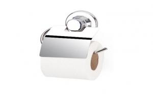Suport cromat hartie igienica cu clapeta si ventuze la doar 48 RON in loc de 90 RON