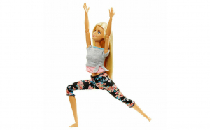 Papusa Barbie blonda cu articulatii flexibile Made to Move