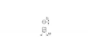 Bec 12V - W5W - 5W Pozitie soclu sticla