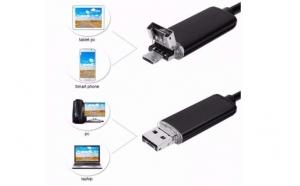 Camera endoscop pentru Android si PC, foto/ video, cablu de 5M, waterproof la doar 129 RON in loc de 299 RON