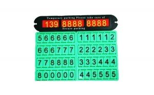 Suport pentru numarul de telefon, cu numere fosforescente