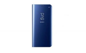 Husa compatibila Huawei P20 Pro Book Clear View Standing Cover (Oglinda) Albastru (Blue)