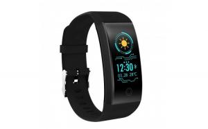 Bratara Fitness Smart Techstar® QW18 NEGRU  Monitorizare Cardiaca  Sedentary  Bluetooth  IP68  Ecran IPS