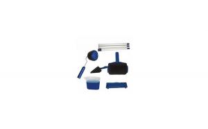 Trafalet Paint Roller Profesional cu umplere + rezervor si recipient,brat extensibil, 2 accesorii pentru Colturi