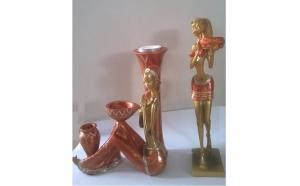 Set 2 statuete aurii suport lumanare la doar 52 RON in loc de 99 RON