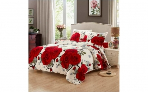 Lenjerie Coccolino cu Trandafiri Rosii