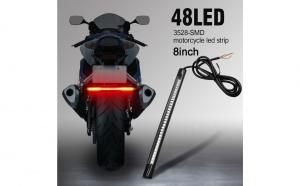 LED Moto flexibil, 48 led, lumina galben-rosie - banda de semnalizare spate